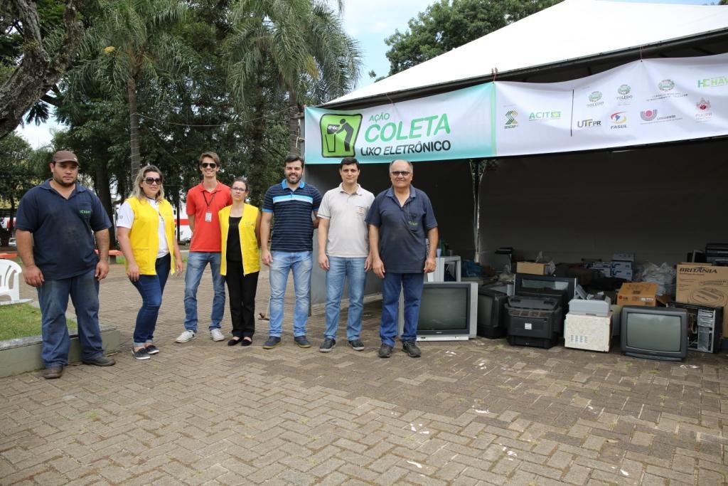 Campanha recebe 10 toneladas de lixo eletrônico em Toledo