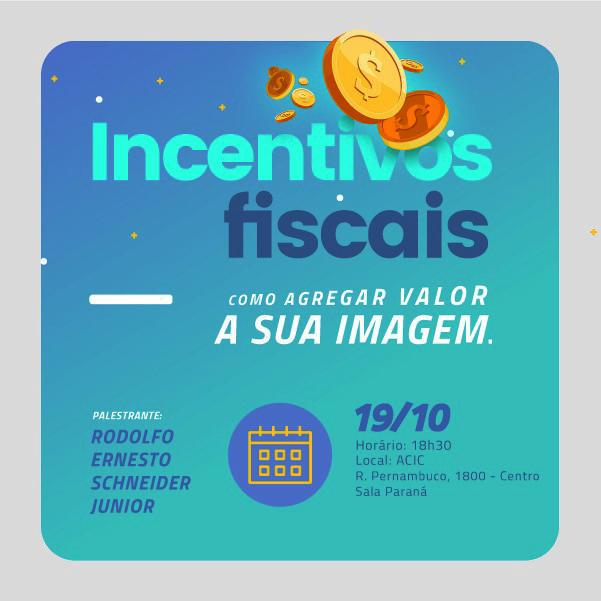 Participe da palestra sobre incentivos fiscais em Cascavel