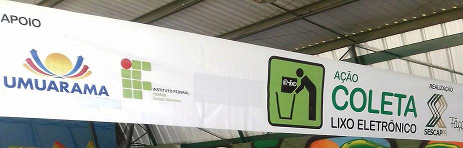 SESCAP-PR recolhe 7,7 toneladas de lixo eletrônico em Umuarama