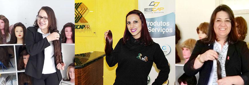 Colaboradoras do SESCAP-PR aderem ao Outubro Rosa e doam cabelos