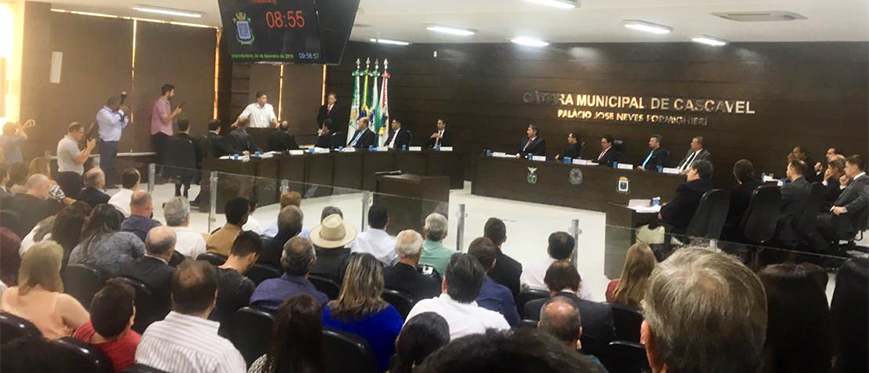 Diretor do SESCAP-PR acompanha trabalhos da Câmara Municipal de Cascavel