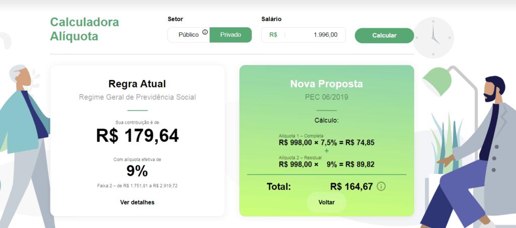 """Governo lança calculadora com alíquotas da """"nova"""" Previdência"""