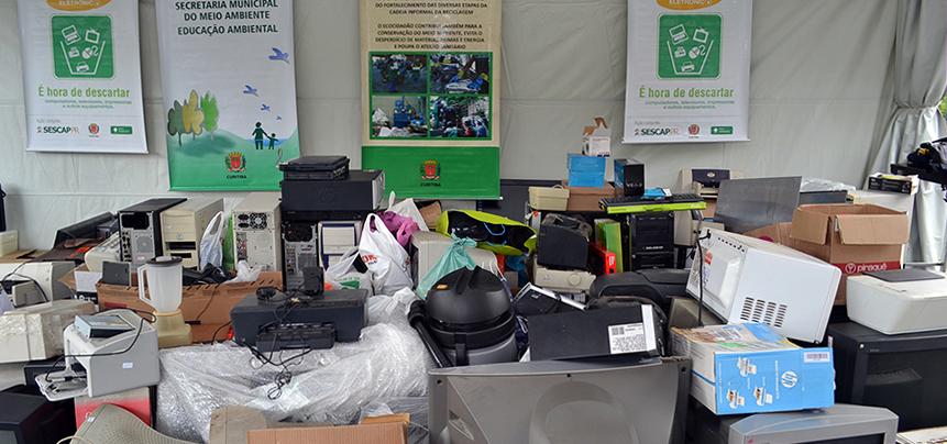 SESCAP-PR realiza campanha de recolhimento de lixo eletrônico