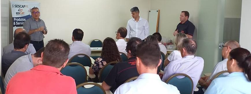 Presidentes do SESCAP-PR e do SETHFB se reúnem em Francisco Beltrão