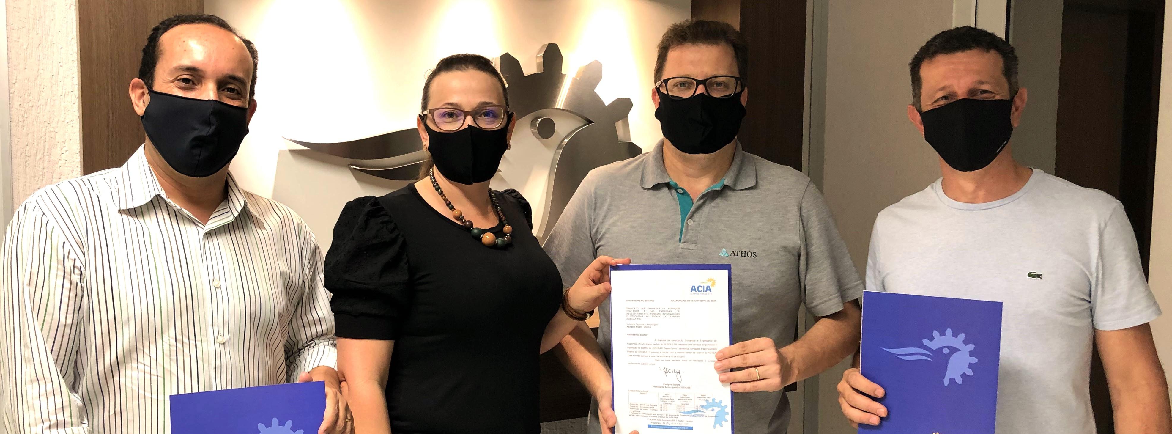 SESCAP-PR e ACIA firmam parceria para beneficiar escritórios contábeis em Arapongas