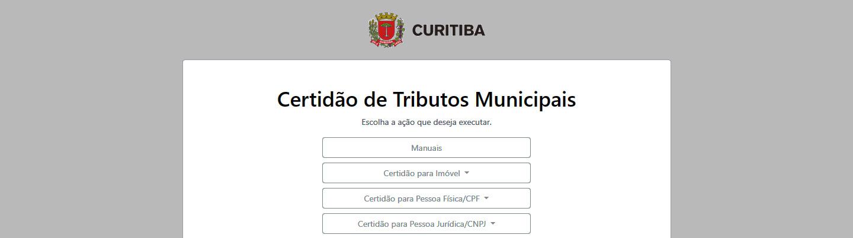 Curitiba tem novo portal para emissão de Certidões Municipais